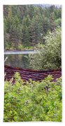 Little Cabin On A Lake Hand Towel