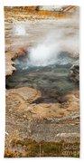 Little Pool Geyser At Black Sands Geyser Basin Bath Towel