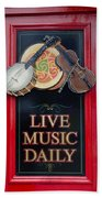 Live Music Daily Hand Towel