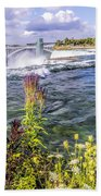 Living On The Edge Niagara Falls Bath Towel