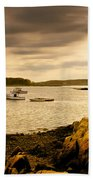 Lobster Boats Cape Porpoise Maine Bath Towel