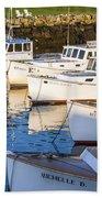 Lobster Boats - Perkins Cove -maine Bath Towel