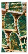 Lobster Traps Hand Towel