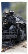 Locomotive 639 Type 2 8 2 Front And Side View Bath Towel