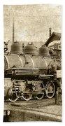 Locomotive No. 15 In The Yard Bath Towel