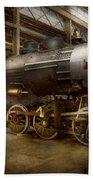 Locomotive - Repairing History Bath Towel