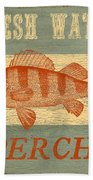 Lodge Vignettes-b Bath Towel by Jean Plout