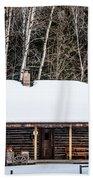 Log Cabin  Bath Towel