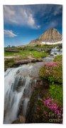 Logan Pass Cascades Bath Towel