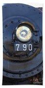 Lokomotive No 790 - Illinois Central Bath Towel