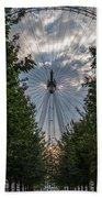 London Eye Vertical Panorama Bath Towel