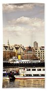 London From Thames River Bath Towel
