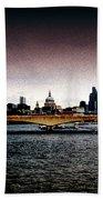 London Over The Waterloo Bridge Hand Towel