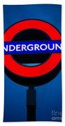 London Underground Bath Towel