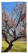 Lone Almond Tree In Bloom Bath Towel