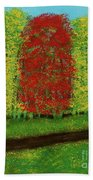 Lone Maple Among The Ashes Bath Towel
