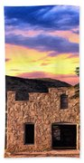 Lone Star Sunset Bath Towel