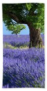 Lone Tree In Lavender Bath Towel