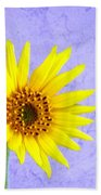 Lone Yellow Daisy Bath Towel