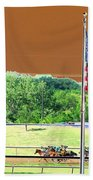 Lonestar Park - Backstretch - Photopower 2204 Bath Towel