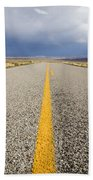 Long Lonely Road Bath Towel