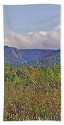 Long Range Mountains In Western Nl Bath Towel