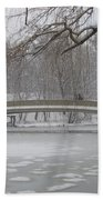 Long Snow Covered Bridge Bath Towel