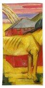 Long Yellow Horse 1913 Bath Towel