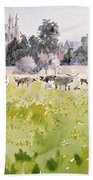 Looking Across Christ Church Meadows Bath Towel