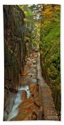 Looking Down Flume Gorge Bath Towel