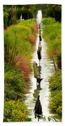 Looking Down Reflection Canal Bath Towel