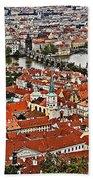 Looking Over Prague Bath Towel