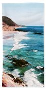 Looking South On The Northern California Coast Bath Towel