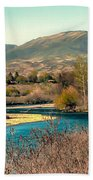 Looking Up The Payette River Bath Towel