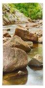 Looking Upstream The Colorado St Vrain River Bath Towel