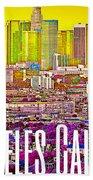 Los Angeles Postcard Bath Towel