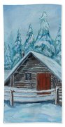 Lost Mountain Cabin Bath Towel