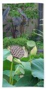 Lotus Flower In Lily Pond Bath Towel