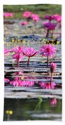 Lotus Flowers Bath Towel