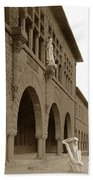 Louis Agassiz In The Concrete Most Famous Image Associated With Stanford University 1906 Earthquake Hand Towel