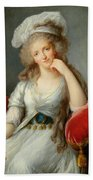 Louise-marie Adelaide, Duchesse Dorleans Oil On Canvas See Also 91622 Bath Towel