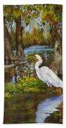 Louisiana Heron Bath Towel