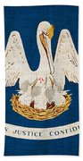 Louisiana State Flag Hand Towel