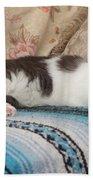Lounging Cat Bath Towel