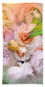 Love Among The Roses Bath Towel