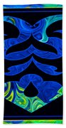 Love And Light Sharing Space Abstract Shapes And Symbols Artwork Bath Towel
