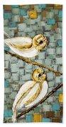 Love Birds- Warm Tone Bath Towel