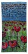 Love For Flanders Fields Poppies Bath Towel