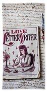 Love Letter Writer Book Bath Towel