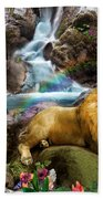 Love Lion Waterfall Bath Towel